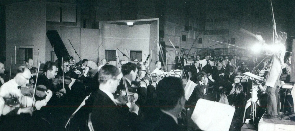Paul McCartney conducting a 40-piece orchestra during the recording of A Day in the Life, February 10th 1967.