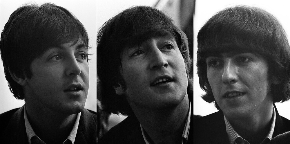 John Lennon, Paul McCartney and George Harrison 1965.