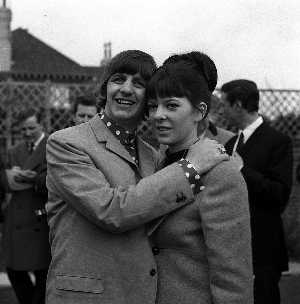 Ringo Starr with wife Maureen, 1965.