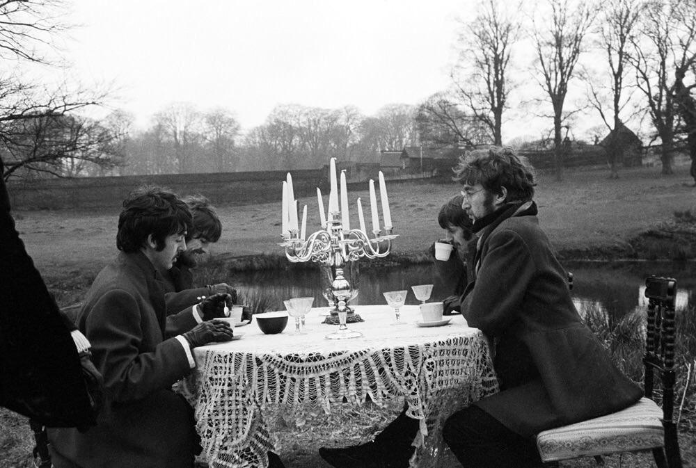 The Beatles filming the Penny Lane promo, February 1967.