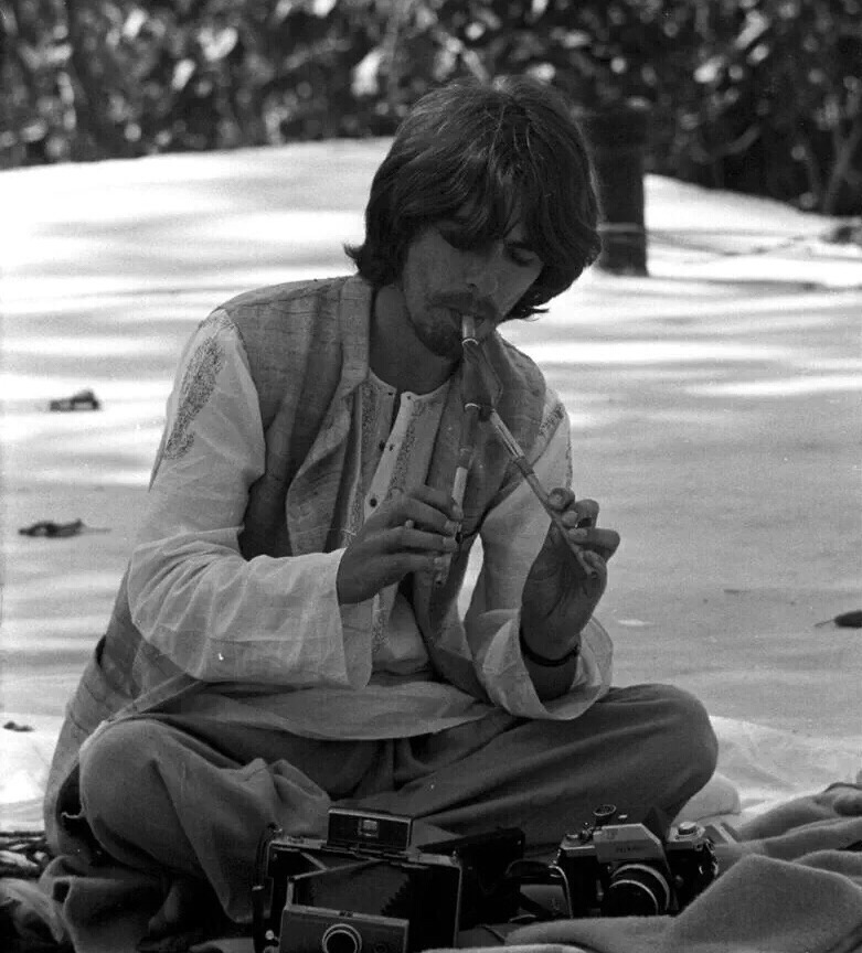 George Harrison in India, 1968.