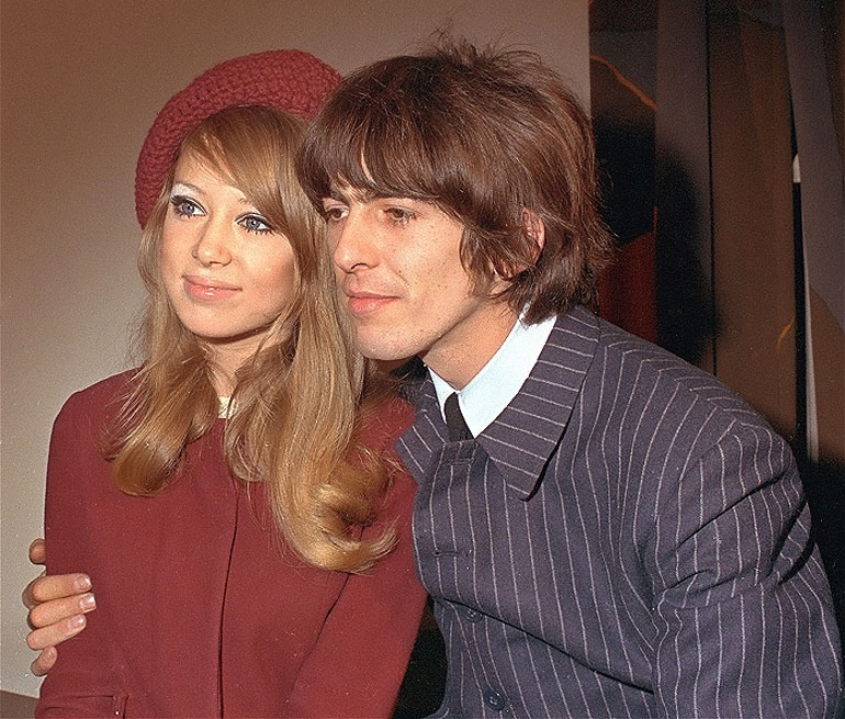 George Harrison with Pattie Boyd, January 21st 1966.