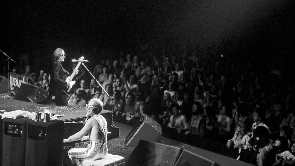 John Lennon and Elton John at Madison Square Garden, November 28th, 1974.