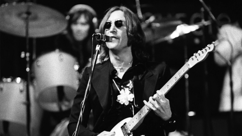 John Lennon at Madison Square Garden, November 28th, 1974.
