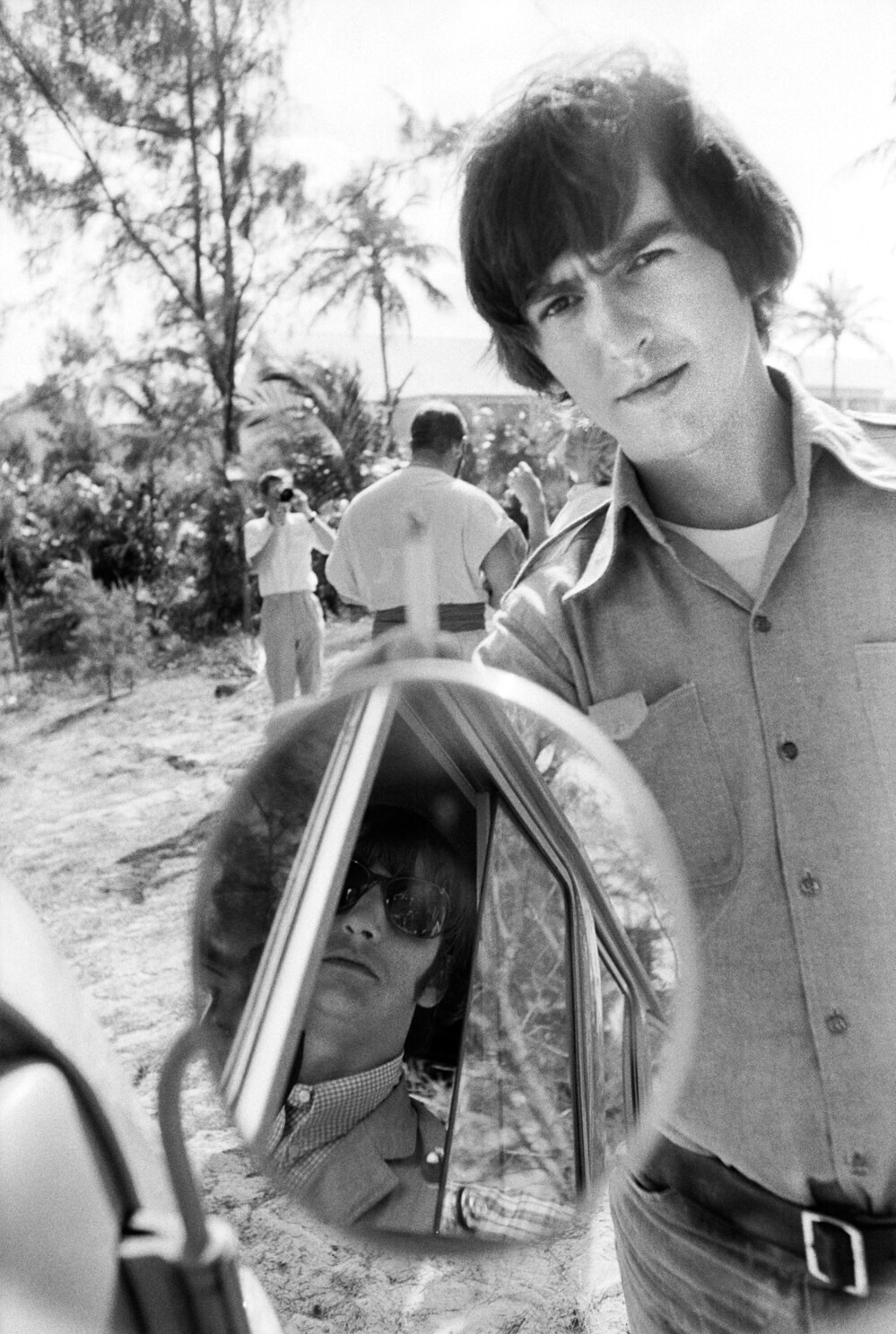 George Harrison and Ringo Starr filming Help! in the Bahamas, 1965.