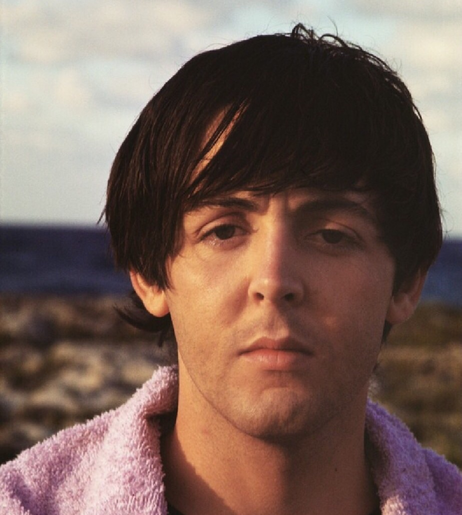 Paul McCartney filming Help! in the Bahamas, 1965.