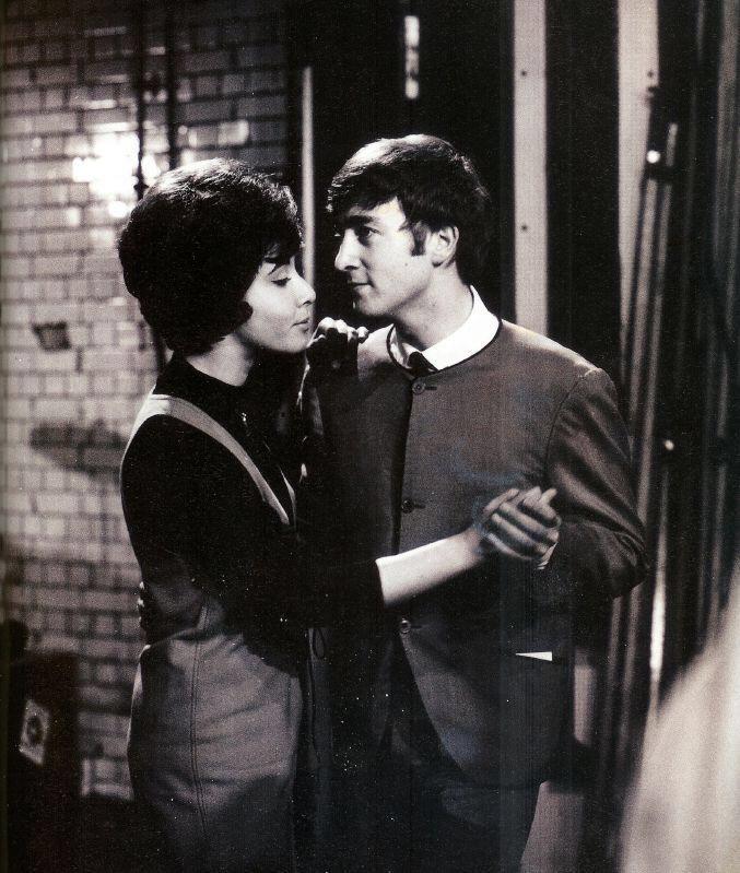 John Lennon with Helen Shapiro, 1963.