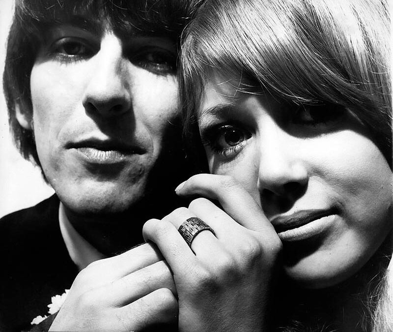 George Harrison and Pattie Boyd, 1966.