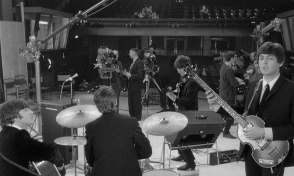 The Beatles filming A Hard Day's Night at Twickenham Film Studios, 1964.