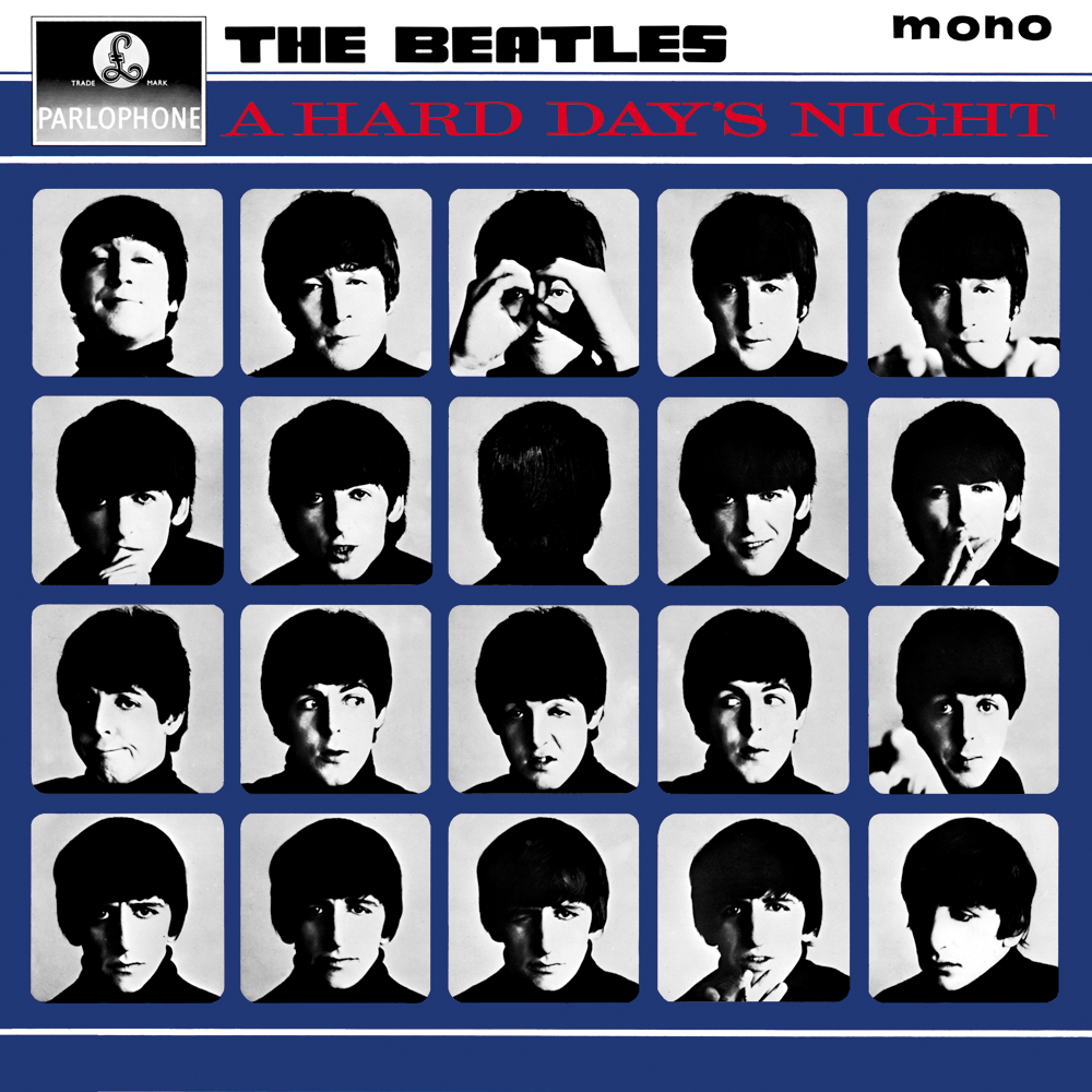 A Hard Day's Night UK album cover.