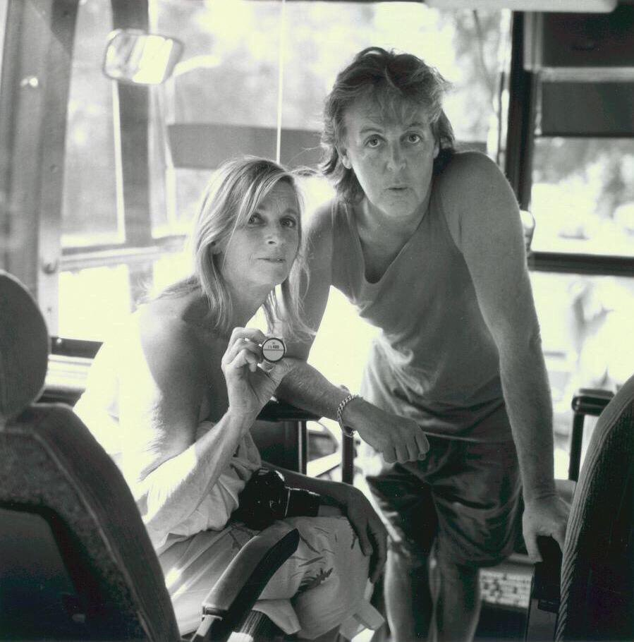Paul and Linda McCartney circa 1997.
