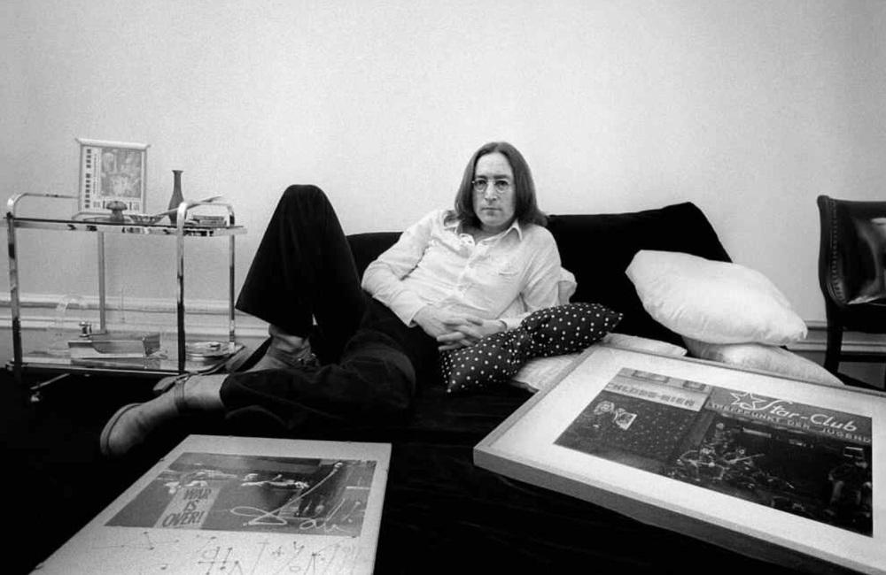 John Lennon at the Dakota, 1975.