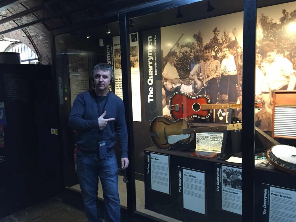 Guitars from the Quarrymen.