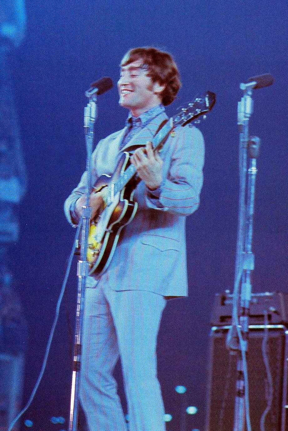 John Lennon at Shea Stadium, August 23rd, 1966.