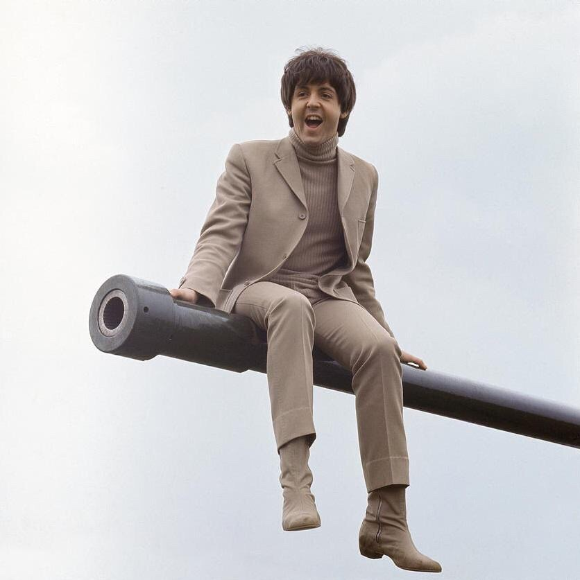 Paul McCartney filming Help! on the Salisbury Plain, Wiltshire, May 1965.