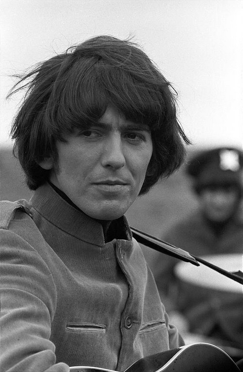 George Harrison filming Help! on the Salisbury Plain, Wiltshire, May 1965.