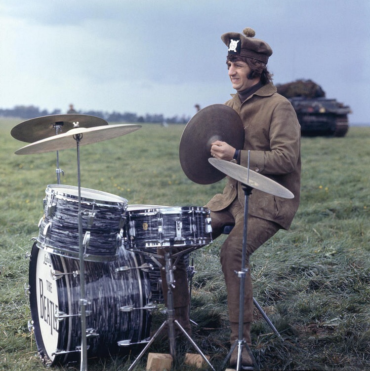 Ringo Starr filming Help! on the Salisbury Plain, Wiltshire, May 1965.
