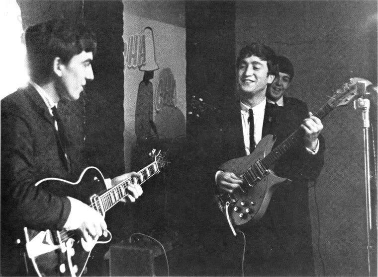 John Lennon, Paul McCartney and George Harrison, circa 1962.