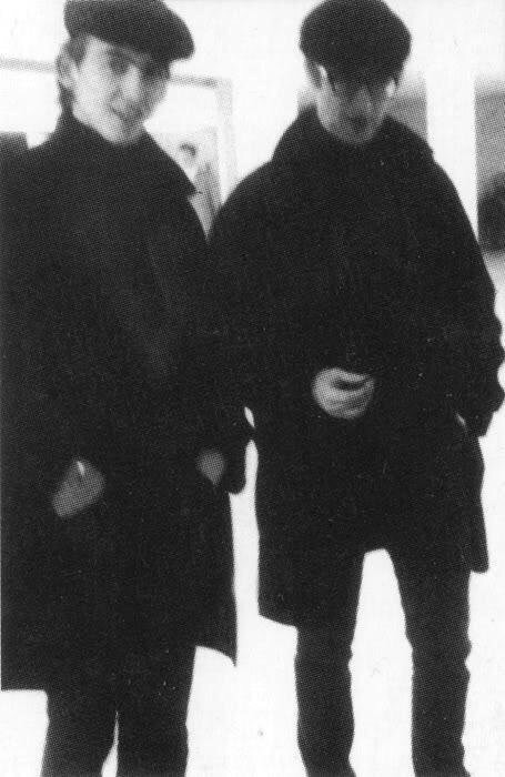 John Lennon and George Harrison, circa 1960.