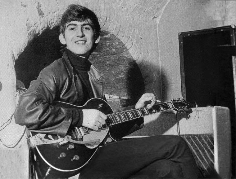 George Harrison at the Cavern, circa 1961.