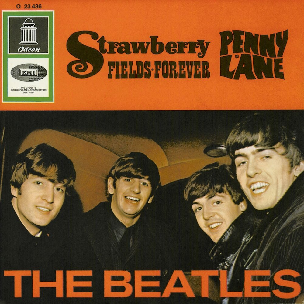 Strawberry Fields Forever/Penny Lane single sleeve, 1967.