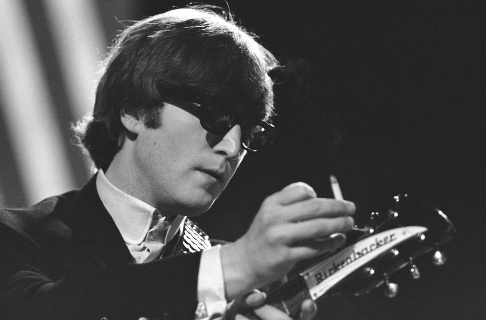 John Lennon at Teddington Studios London, 1964.