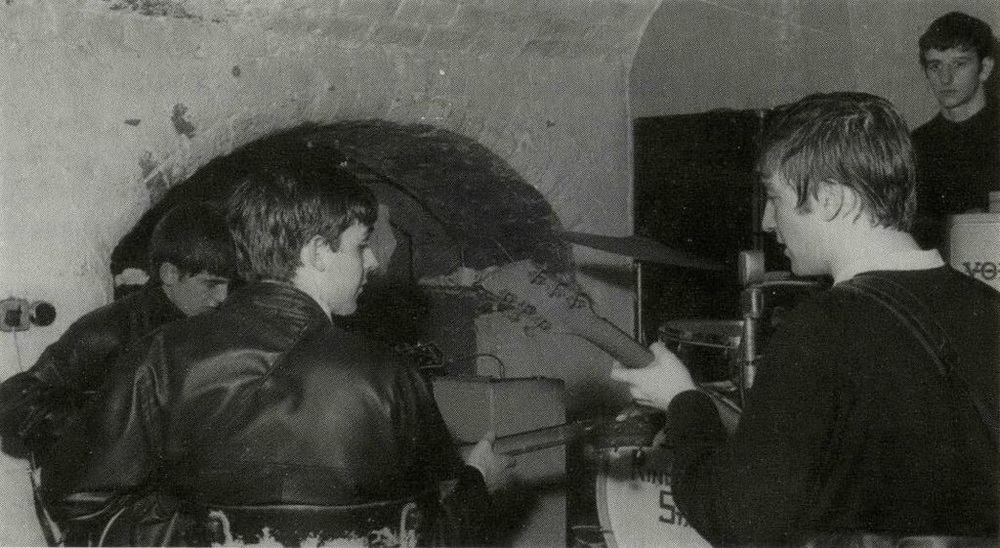 The Beatles at the Cavern Club, 1962.