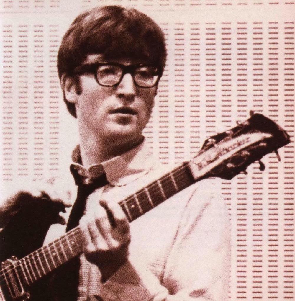 John Lennon recording at the BBC.