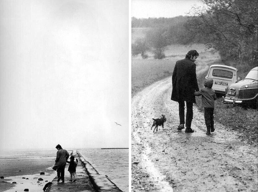 Paul McCartney with daughter Heather, circa 1969.