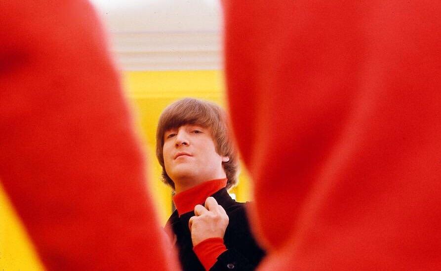 John Lennon on the set of Help! 1965.