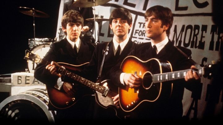 The Beatles performing Love Me Do, 1963.