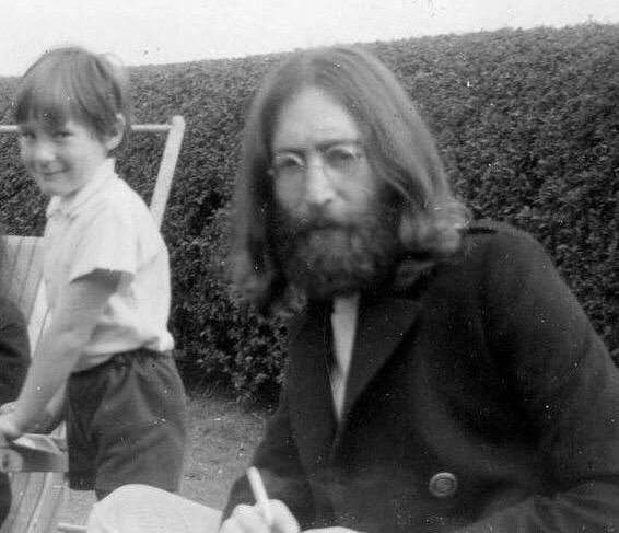 John and Julian Lennon, 1969.