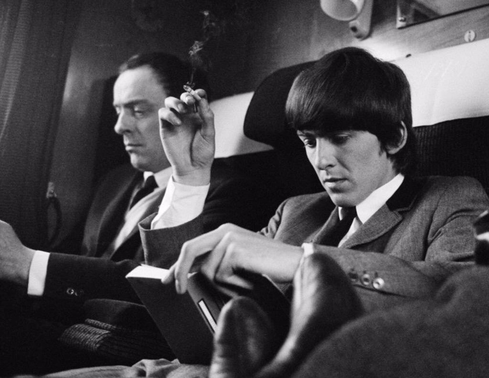 George Harrison filming  A Hard Day's Night , 1964.