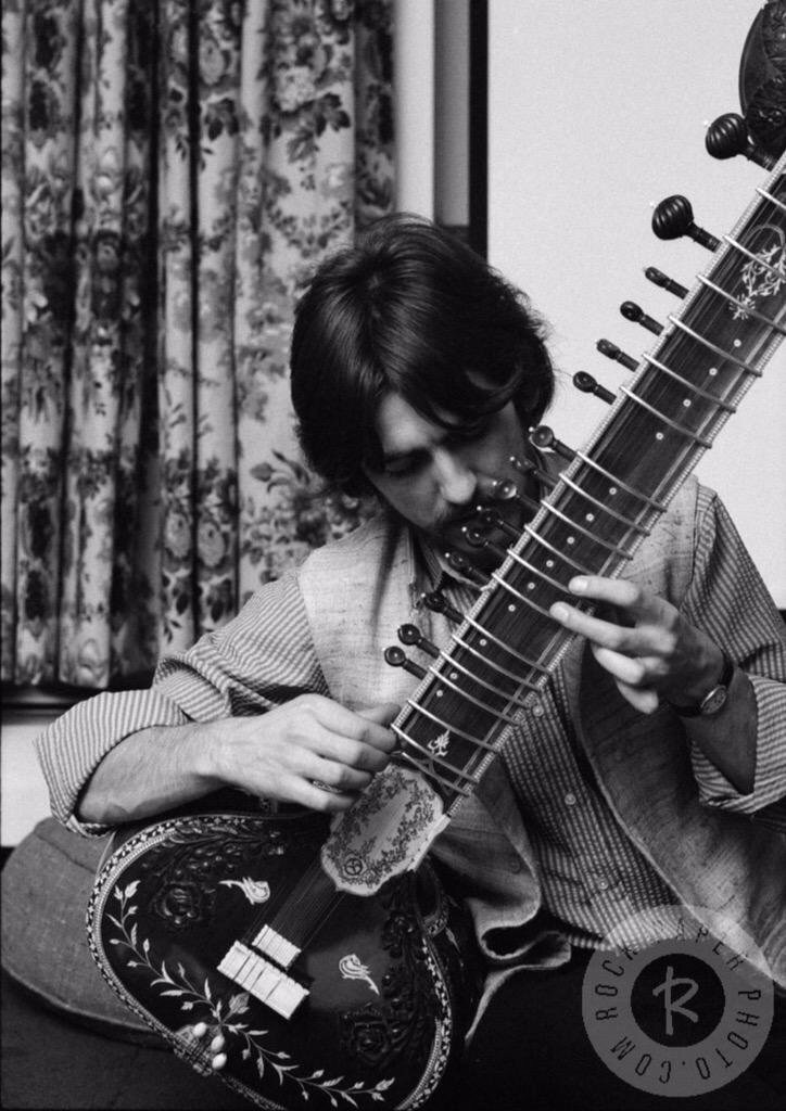 George Harrison playing the sitar, 1967.