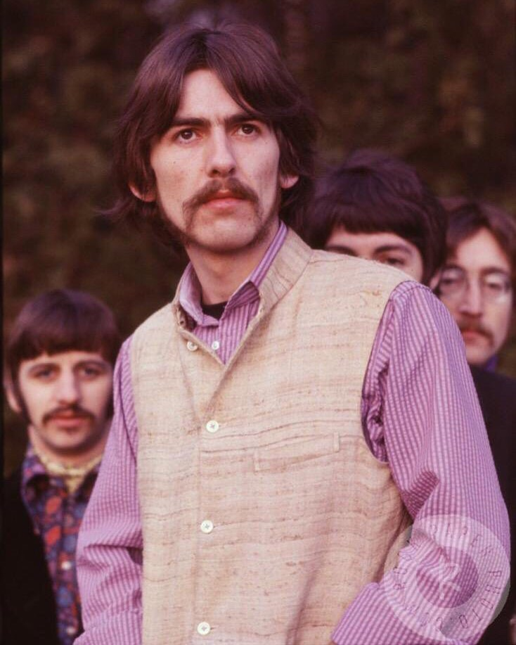 George Harrison with the Beatles, 1967.