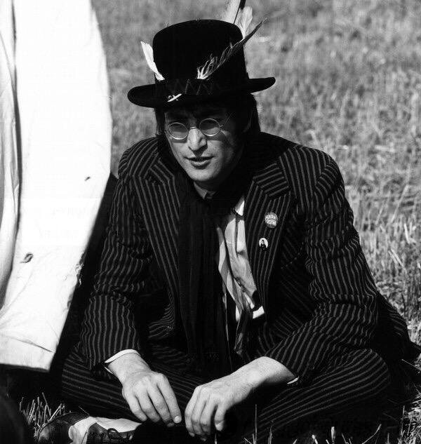 John Lennon filming Magical Mystery Tour, 1967.