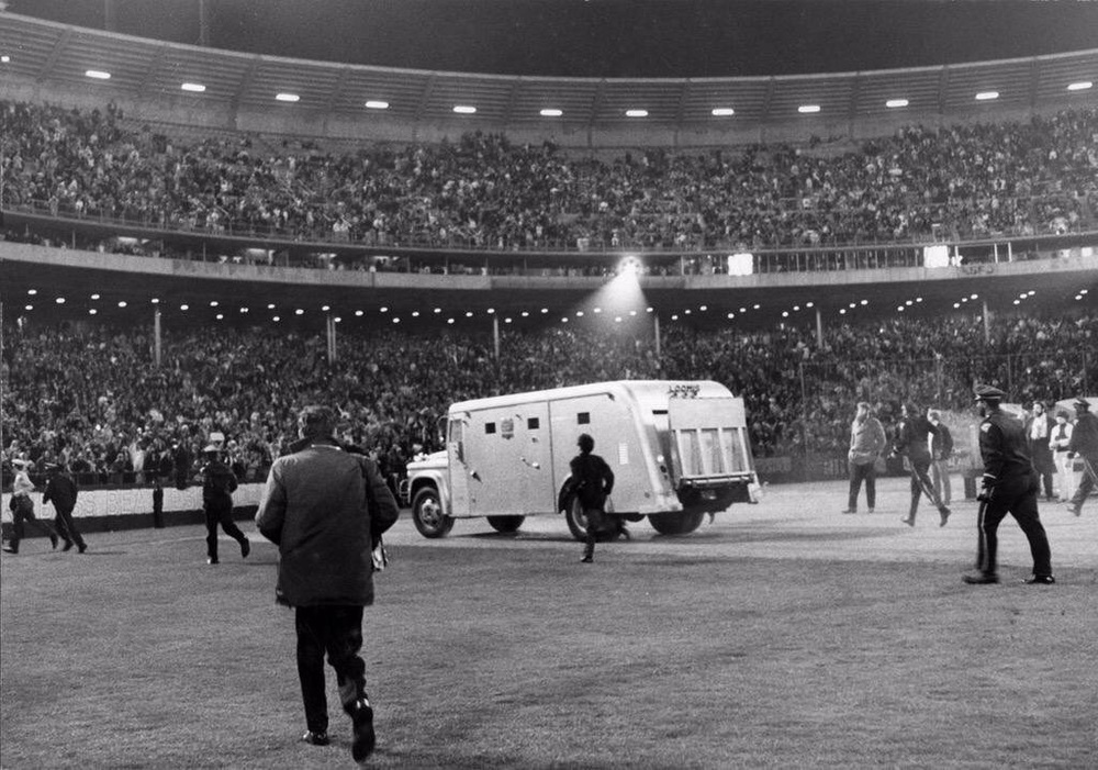 The Beatles at Candlestick Park, San Francisco, August 29th, 1966.