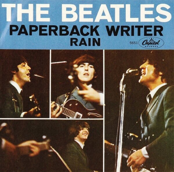 Paperback Writer and Rain single, 1966.
