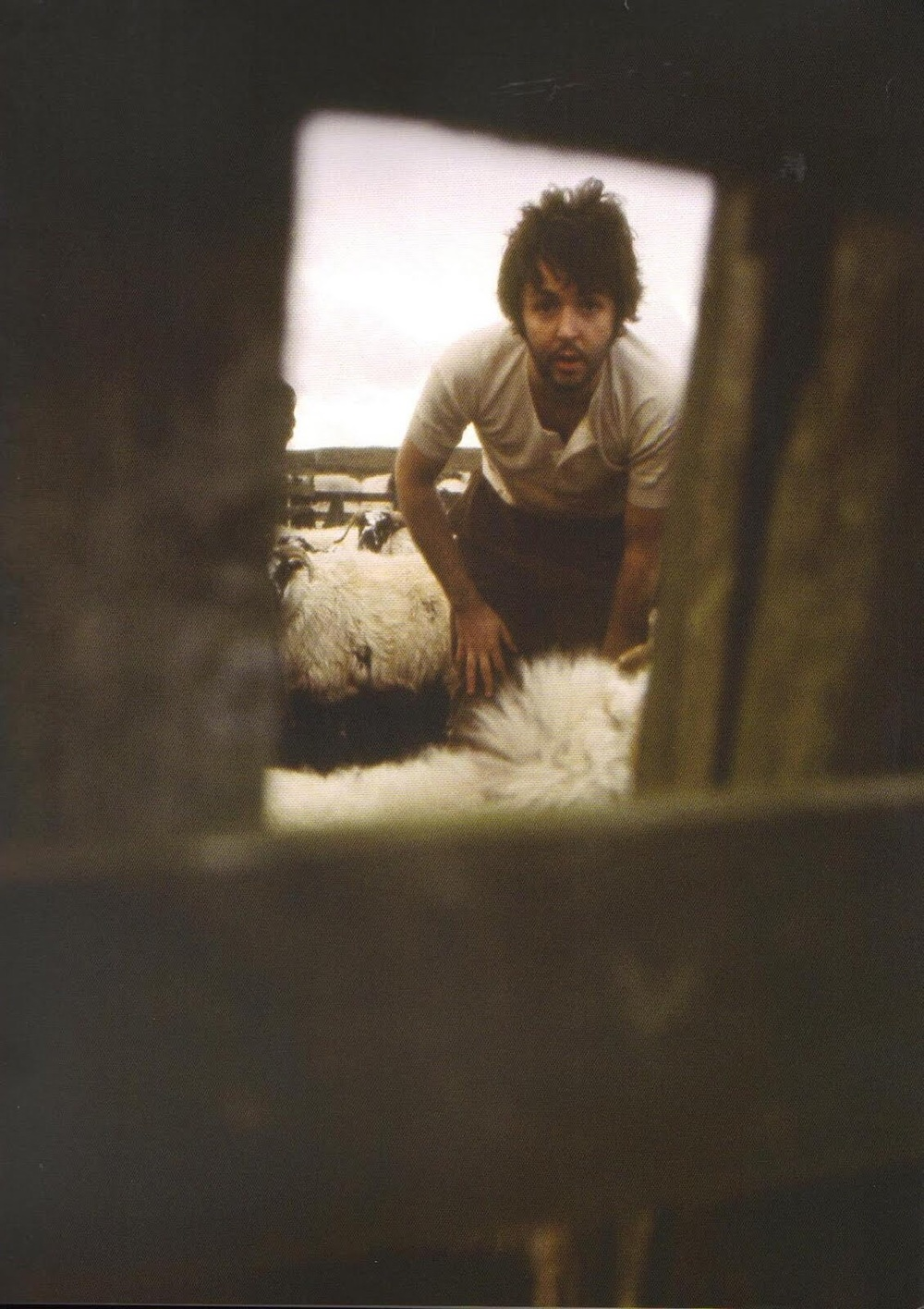 Paul McCartney at High Park Farm, circa 1969.