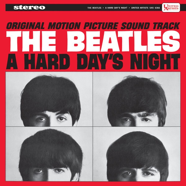 US album cover of A Hard Day's Night.
