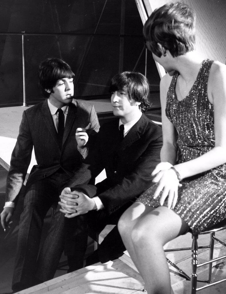 Paul McCartney, John Lennon and Cilla Black, 1964.
