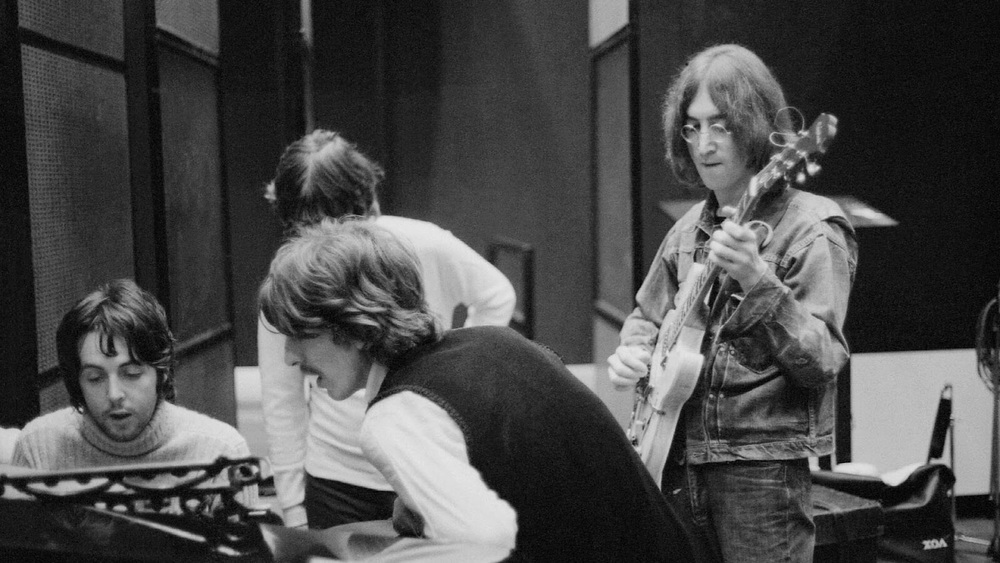 The Beatles working on the White Album, 1968.