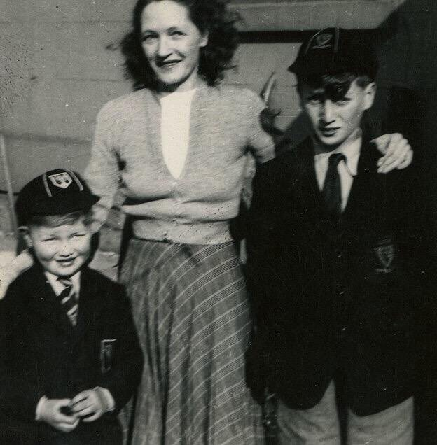 John Lennon (right) with his Aunt Harriet, 1952.