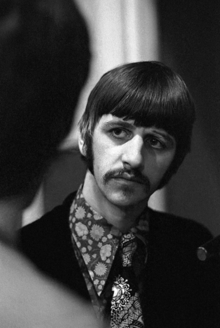 Ringo Starr during a Sgt. Pepper recording session, 1967.
