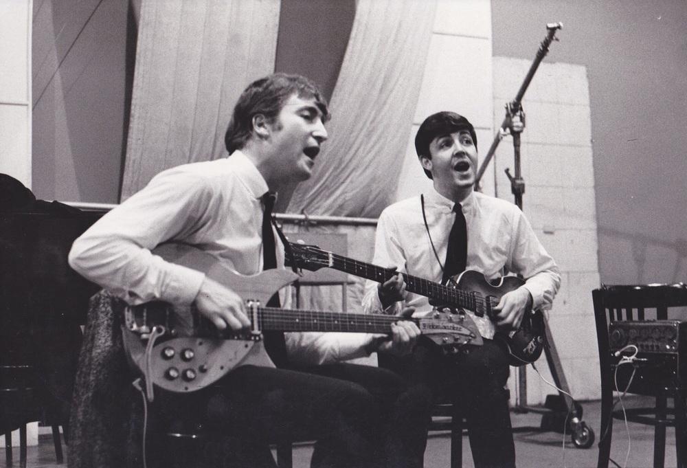 John Lennon and Paul McCartney at EMI Studios, September 4th 1962.