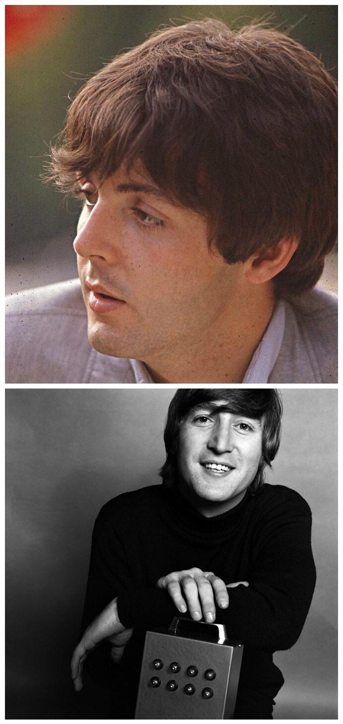 John Lennon and Paul McCartney 1965.