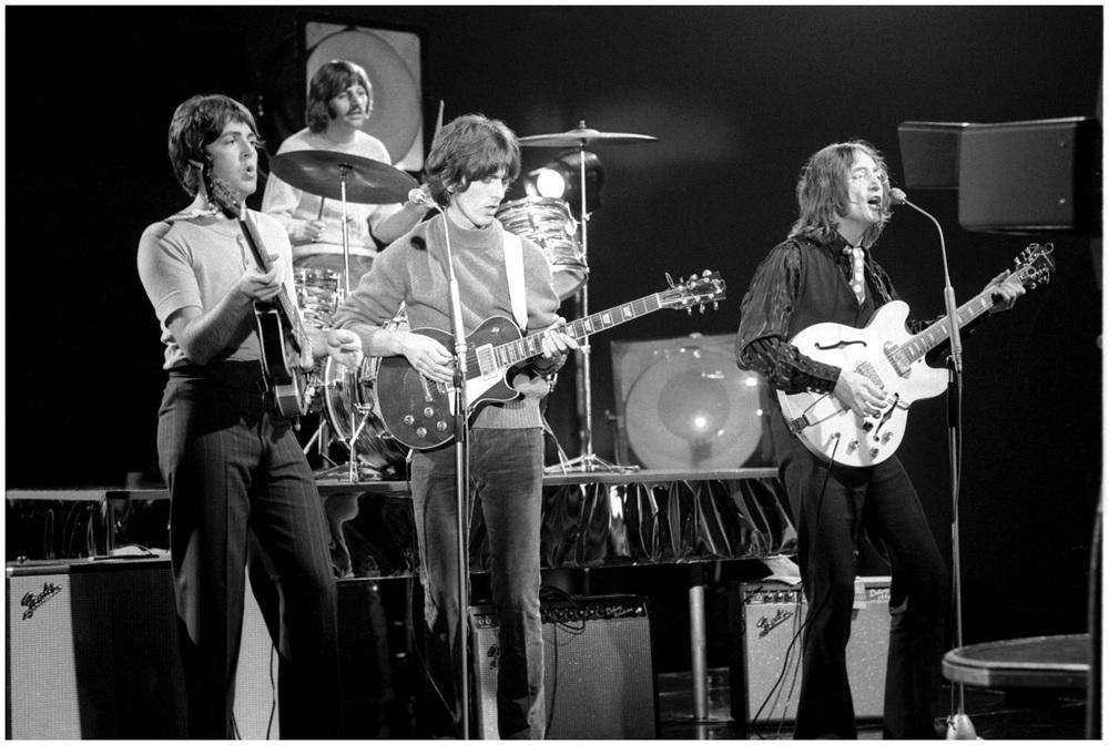 The Beatles performing Revolution at Twickenham Film Studios, September 4th, 1968.