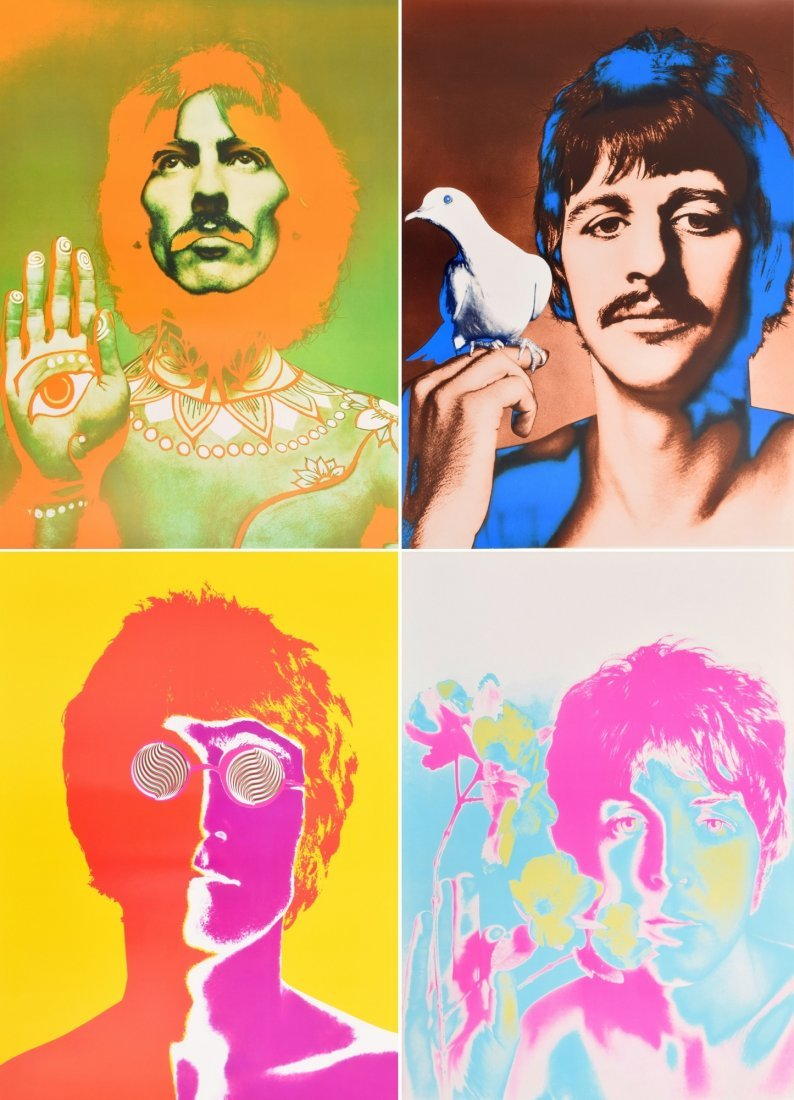 Psychedelic effects added to some of Richard Avedon's photos, 1967.
