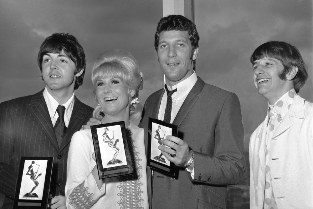 Paul McCartney, Dusty Springfield, Tom Jones and Ringo Starr, circa 1966.