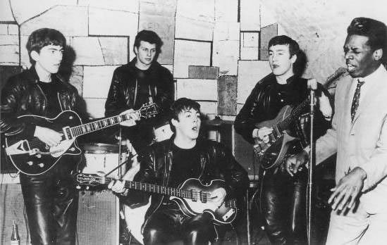 The Beatles at the Cavern with Davey Jones, December 8th 1961.